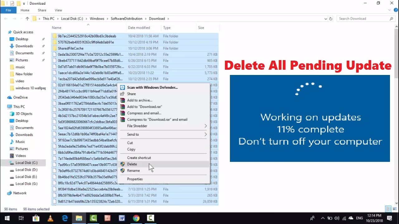 windows 10 update download pending