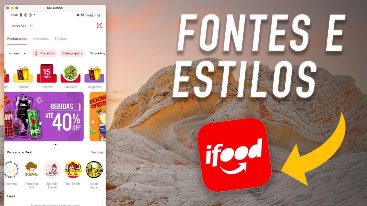 ANDROID: ADICIONANDO FONTES E ESTILOS - CRIANDO A INTERFACE PRINCIPAL DO iFOOD #3