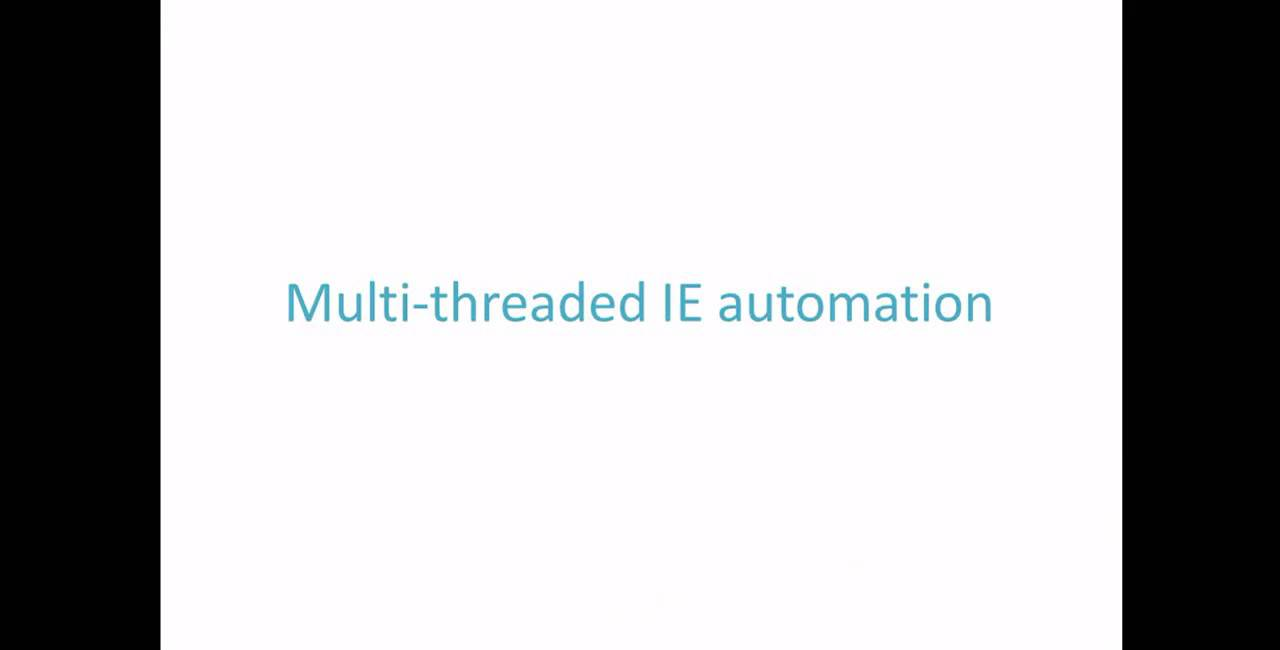 Multithreaded browser automation (VBA Web Scraping