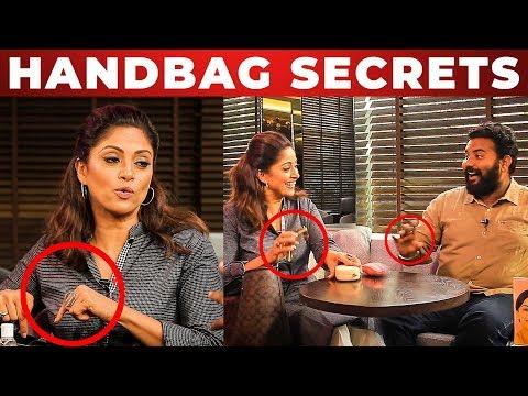 Nadhiya's Beauty Secrets Revealed!   What's Inside the HANDBAG