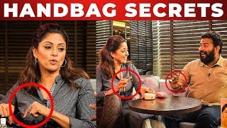 Nadhiya's Beauty Secrets Revealed! | What's Inside the HANDBAG