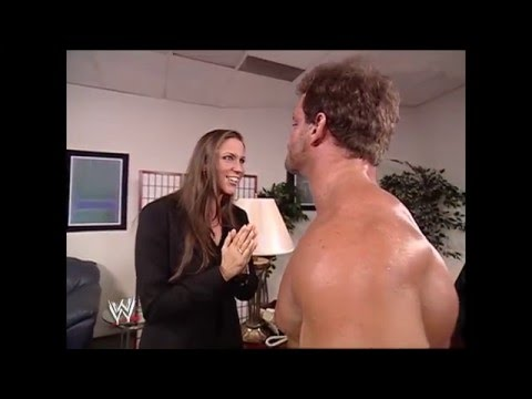 Stephanie McMahon and Chris Benoit backstage (SmackDown 15.8.2002) thumbnail