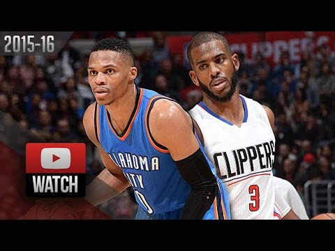 Russell Westbrook vs Chris Paul EPIC Duel Highlights (2015.12.21) Clippers vs Thunder - 65 Pts TOTAL