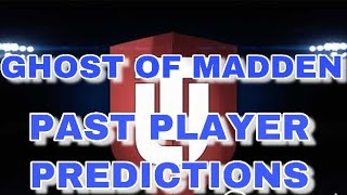 GHOST OF MADDEN PAST LTD PLAYER PREDICTIONS | MADDEN 19 ULTIMATE TEAM