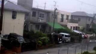 台風9号沖縄本島上陸!Typhoon Muifa is hitting Okinawa②