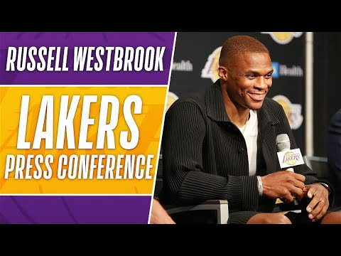 Russell Westbrook Lakers Intro Press Conference!