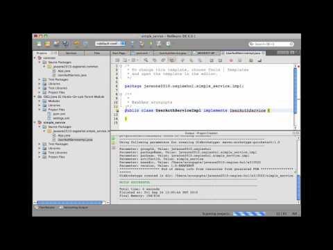 Part 2 of 6: OSGi-enabled Java EE Applications - API and Service OSGi Bundle