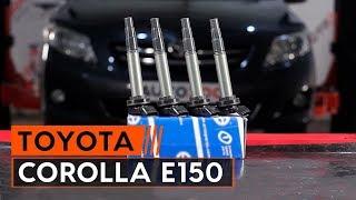 Hvordan og hvornår skifte Tændspole TOYOTA COROLLA Saloon (E15_): videovejledning