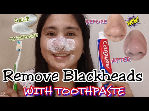 DIY Toothpaste And Salt Blackhead Removal:Get Rid Of Blackheads With A Toothbrush I Euanne Hyuna
