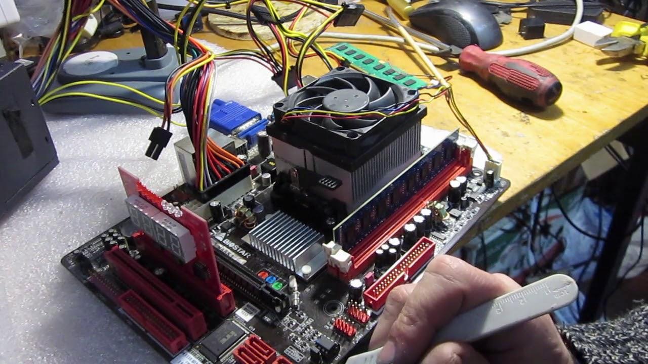 Biostar N68S3 ремонт материнской платы
