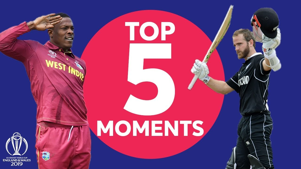 Brathwaite? Williamson? | West Indies vs New Zealand  - Top 5 Moments | ICC Cricket World Cup 2019