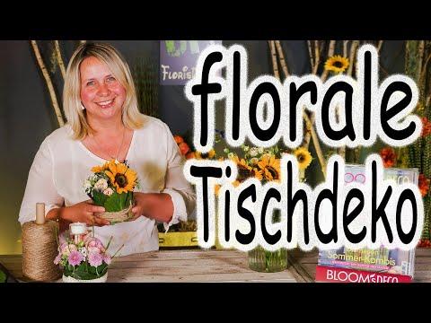 DIY: florale Tischdeko | Sommerdeko | Blumendeko | Blumengesteck | Hochzeitsdeko| Floristik24