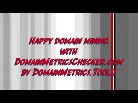 DomainMetricsChecker for FREE Domain Availability and BULK Domain Metrics Checks