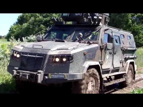 Off-road test of new Ukrainian Kozak 2M multi-purpose armoured vehicle