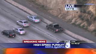 Police Pursuit - Hit-and-Run Suspect High Speed Pursuit SoCal February 23, 2015