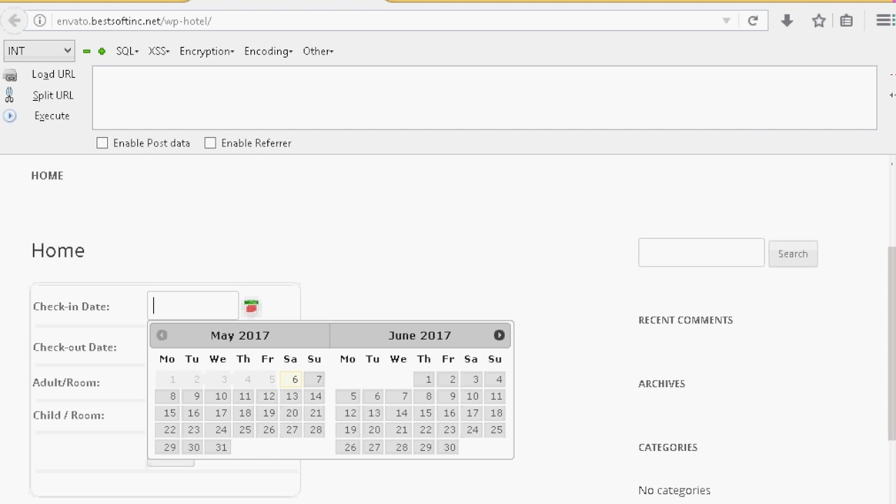 WP Hotel Booking System Plugin 1 2 - Boolean Based Blind SQL Injection