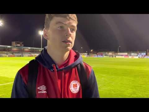 """I don't hit many goals like that!"" - Alfie Lewis"