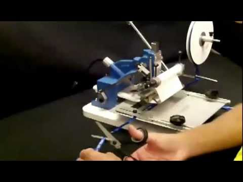 Ribbon Printing On The Howard Model 45 Hot Stamping Machine
