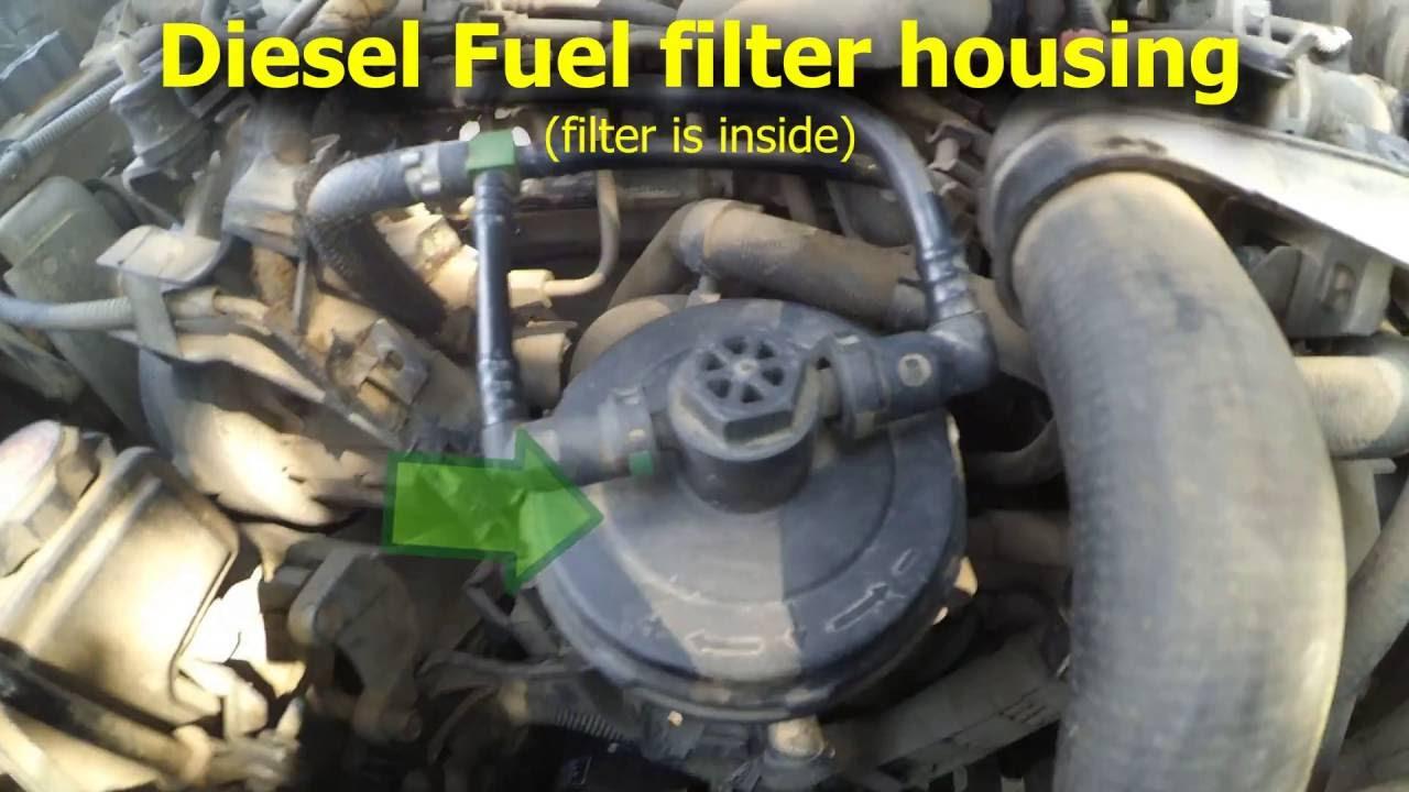 diesel fuel filter replacement 2 0hdi citroen xsara picasso [ 1280 x 720 Pixel ]