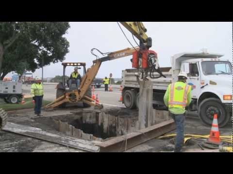 Utility Construction Activity for Presidio Parkway Project