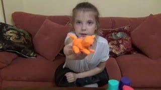 Плей До Кошка видео для детей Play Doh Cat videos for children(Это видео вторая попытка Лии самостоятельно записать видео без помощи родителей. Лии купили пластилин..., 2016-05-23T17:35:34.000Z)