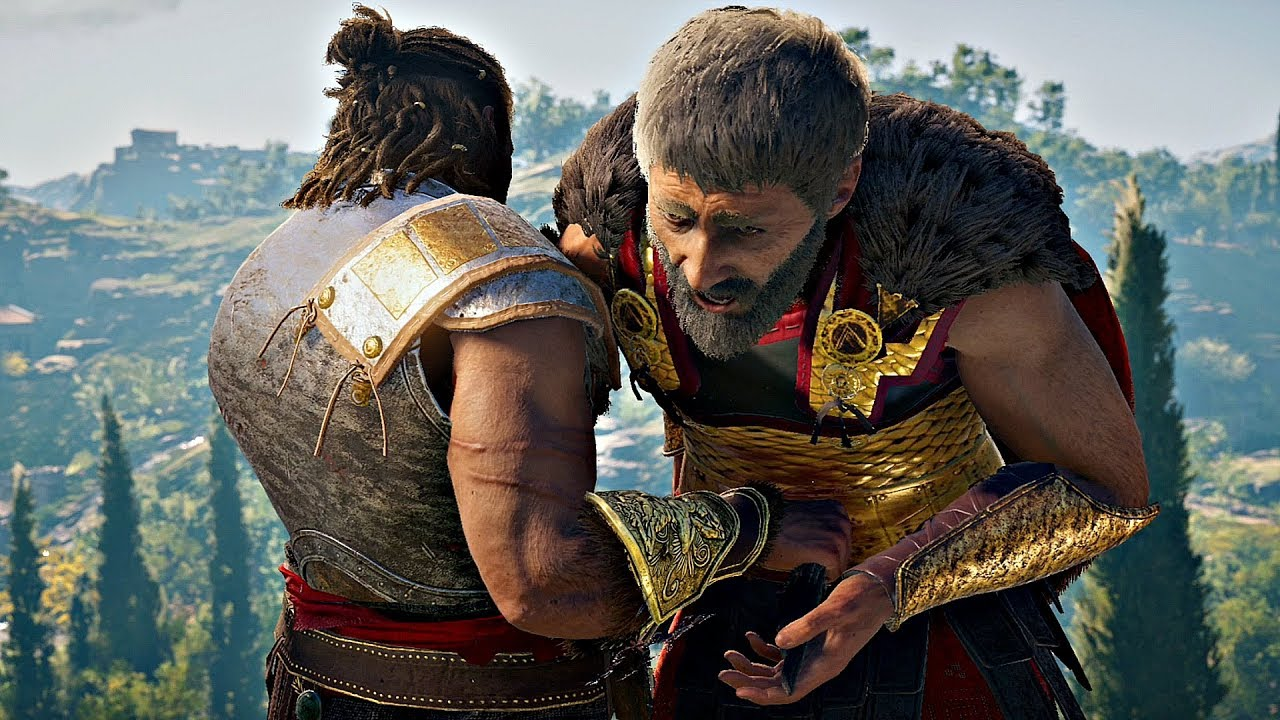 Assassin S Creed Odyssey Alexios Kills Father Son Nikolaos