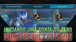 INICIANDO UMA CONTA DO ZERO#01 - MISSÕES DOS 7 DIAS | LEGACY OF DISCORD