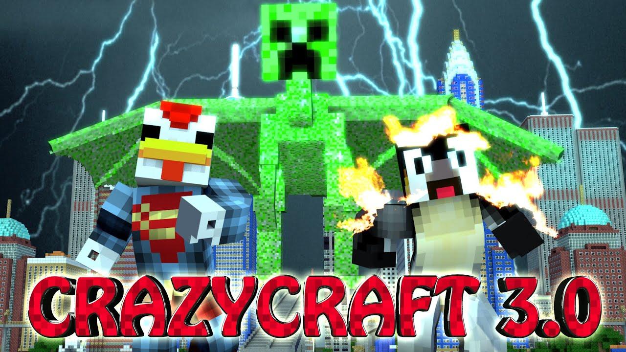 Minecraft crazy craft 3 0 ep 9 our world gets for Crazy craft 3 0 server