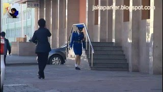 the cute pyongyang traffic girl north korea