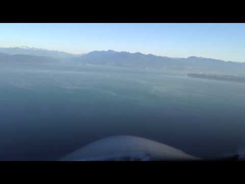Vancouver BC: eclipse jet visual approach 08R