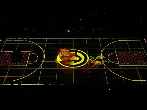Atlanta Hawks Opening Night court projection