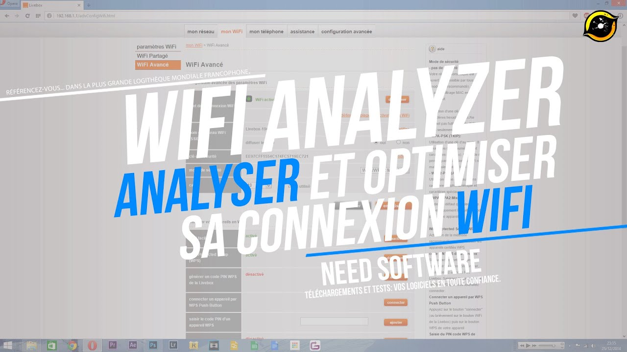 comment analyser et optimiser sa connexion wifi wifi analyzer youtube. Black Bedroom Furniture Sets. Home Design Ideas