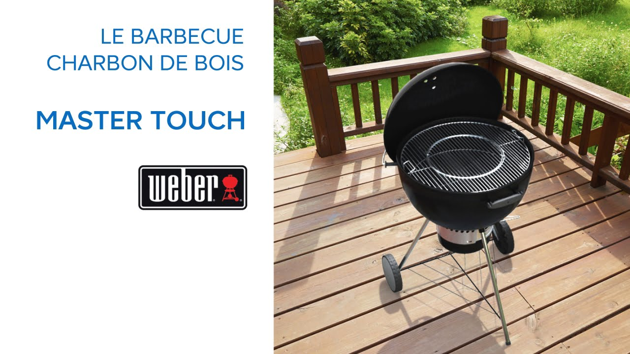 barbecue charbon de bois master touch weber 681349 castorama youtube. Black Bedroom Furniture Sets. Home Design Ideas