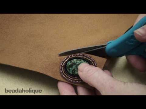 Bead Embroidery: How To Trim The Foundation And Attach The Backing