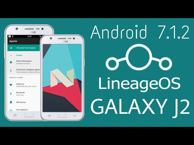Lineage OS Nougat for Galaxy J2 (Android 7.1.2)