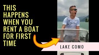 🚤 Speed Boating Lake Como 👍   Funny Speed Boat Ride ( Italy Road Trip )