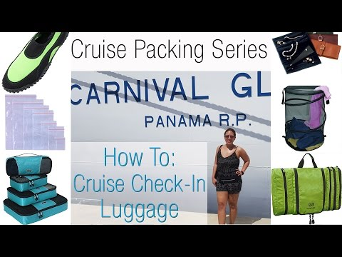 How to Pack - Check In Luggage - 7 Day Caribbean Cruise
