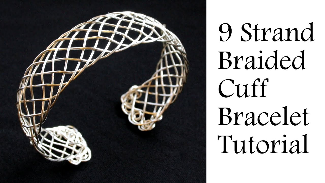 Jewelry Tutorial 9 Strand Viking Weave Braided Bracelet Intermediate Wire Wring