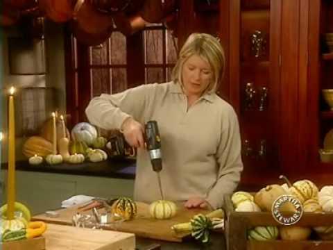 Gourd Candles | Thanksgiving Decorations | Martha Stewart