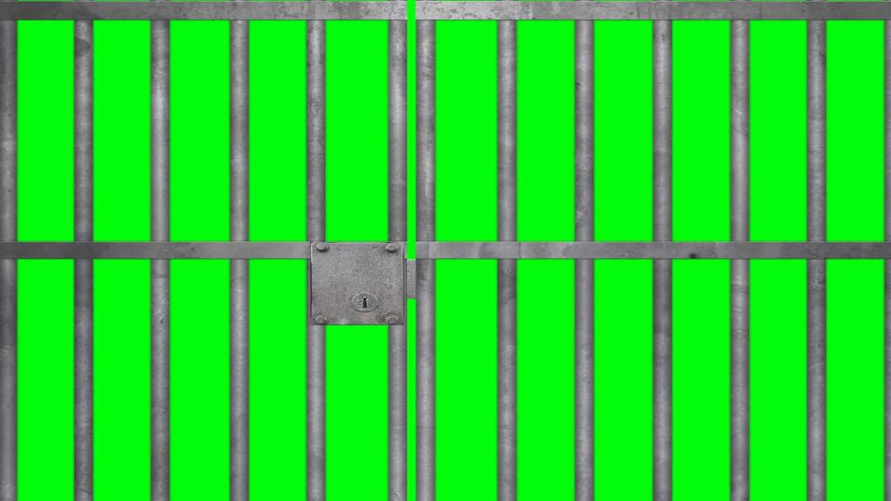 Prison Jail Bars Cell Green Screen Youtube