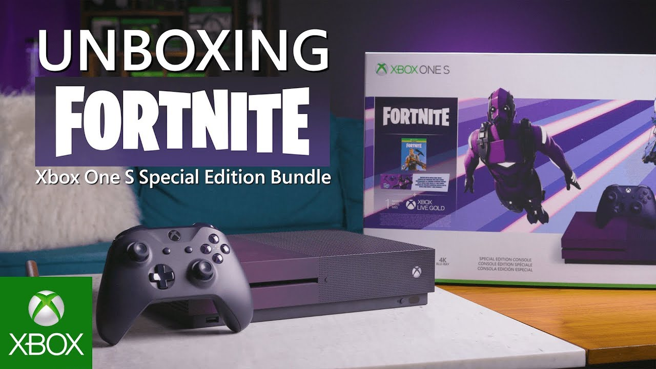 Unboxing Xbox One S Fortnite Battle Royale Special Edition Bundle