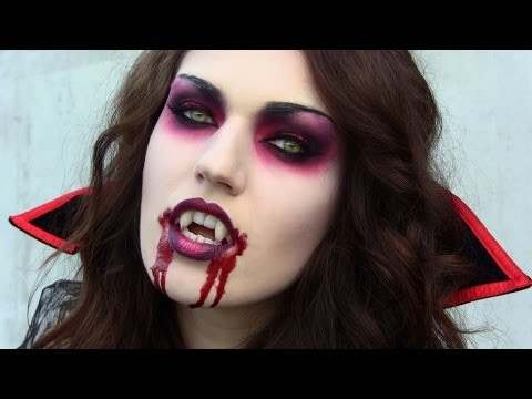 Scary Vampire Halloween Tutorial: Makeup, Hair & Costume - YouTube