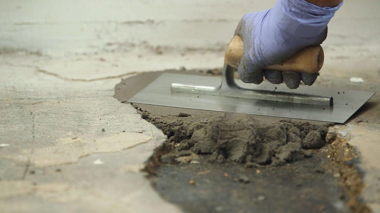 Löcher In Betonböden Reparieren   Epoxidharzmörtel - Youtube