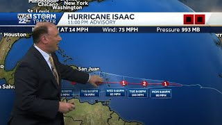 Hurricane Isaac is the 5th Hurricane of the 2018 Atlantic Season