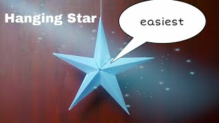 hanging star | easy paper craft