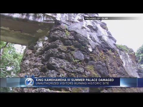 Vandals damage King Kamehameha III's summer palace in Nuuanu