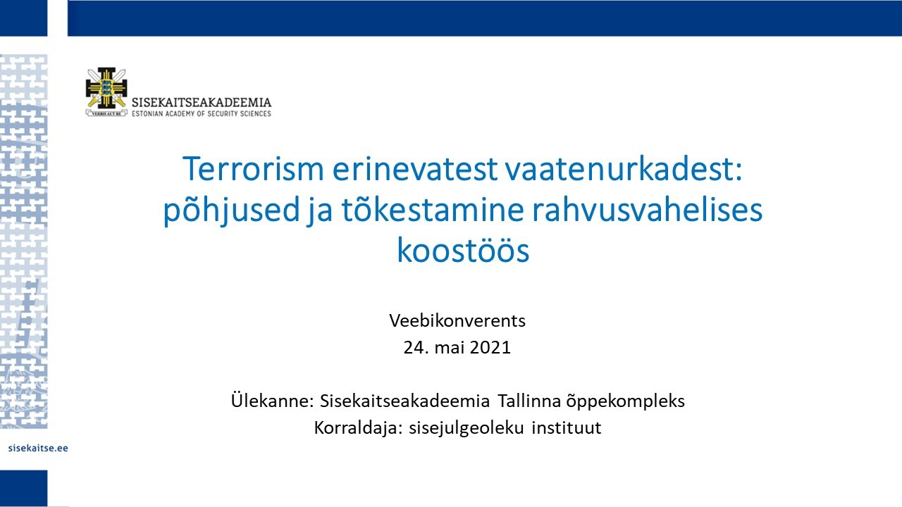 Download Terrorism erinevatest vaatenurkadest: põhjused ja tõkestamine rahvusvahelises koostöös