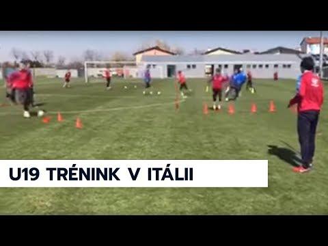 Trénink reprezentace U19 v Itálii před sobotním zápasem kval. ME proti Řecku