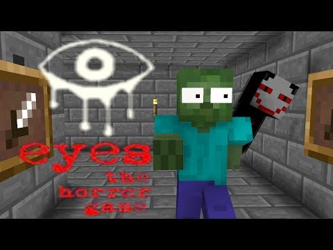 Monster School : EYES THE HORROR GAMES-Minecraft Animation
