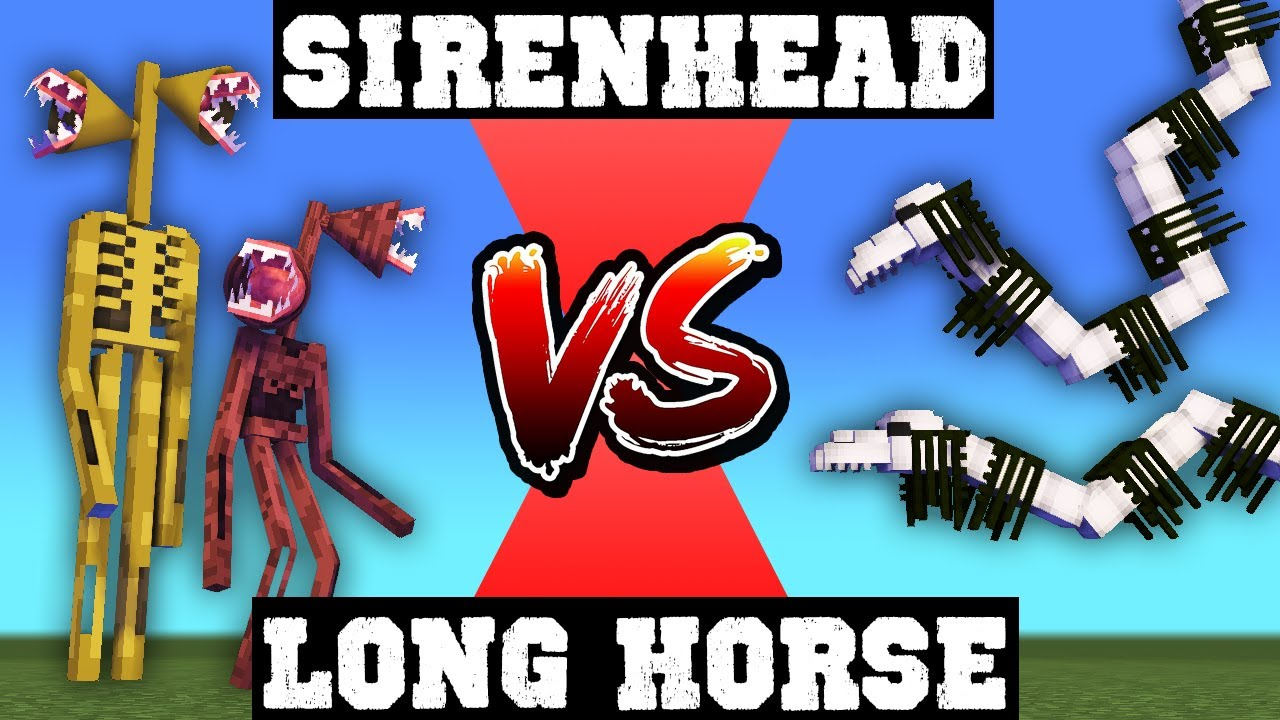 Siren Head VS Long Horse! - Funny Minecraft Animation